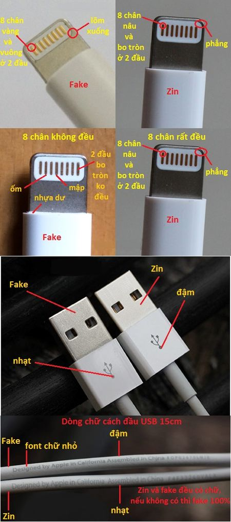 Cach phan biet phu kien iPhone chinh hang va fake - Anh 3