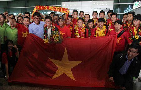 U-19 Viet Nam ve nuoc trong niem han hoan - Anh 1