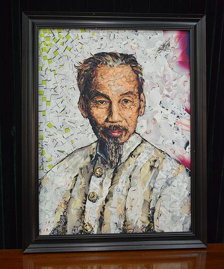 Buc chan dung Chu tich Ho Chi Minh cua hoa si tai hoa nguoi Phap - Anh 2