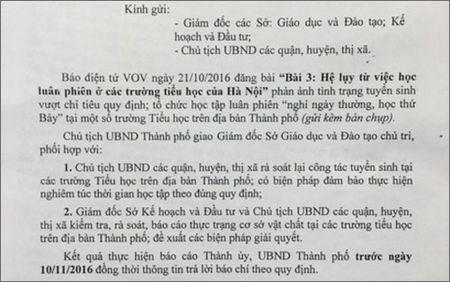 Ha Noi phan hoi thong tin cua VOV.VN neu ve viec hoc luan phien - Anh 1