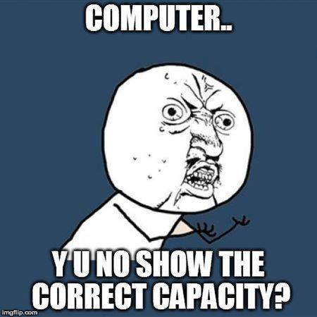 Tai sao o cung/ USB khong hien thi du dung luong nhu quang cao? - Anh 1