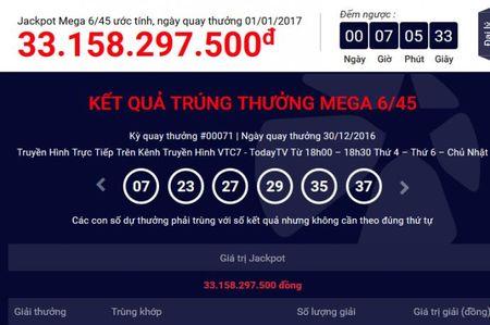 Ket qua xo so Vietlott 01/01/2017: 33 ty cho nguoi may man nam moi - Anh 1