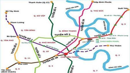 Tp.HCM de nghi xem xet thong qua chu truong dau tu Du an metro so 5 tri gia 41.607 ty dong. - Anh 1