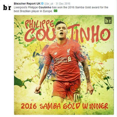 Coutinho danh bai Neymar de tro thanh Cau thu Brazil hay nhat choi bong tai chau Au - Anh 2