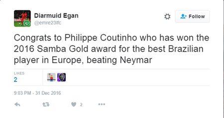 Coutinho danh bai Neymar de tro thanh Cau thu Brazil hay nhat choi bong tai chau Au - Anh 3