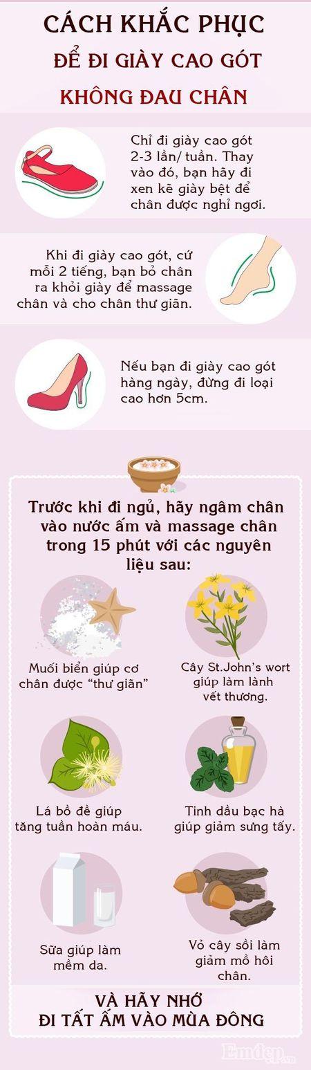 Cac co gai, day la cach de di giay cao got khong bi dau chan - Anh 3