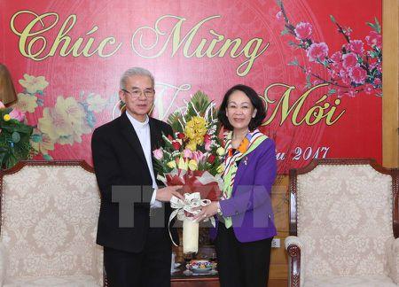 Truong Ban Dan van Trung uong tiep cac doan chuc sac ton giao - Anh 1