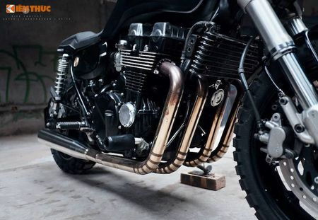 Honda CB750 'lot xac' cafe tracker don Tet tai Ha thanh - Anh 7