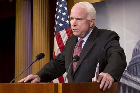 Dang sau viec Thuong nghi si John McCain 'khen' Nga o Syria? - Anh 1