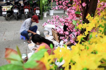 Hoa vai cao cap gia hon chuc trieu 'chay hang' o TP.HCM - Anh 7