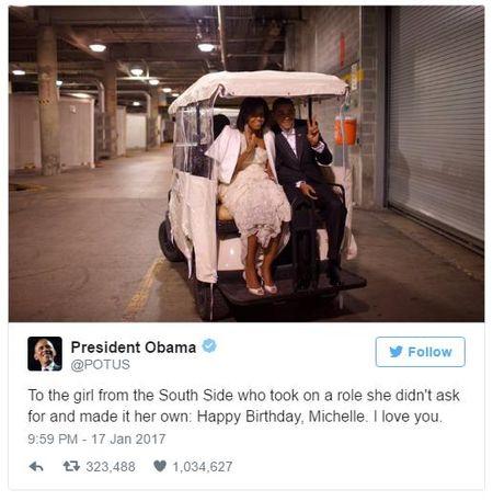 Nhung khoanh khac lang man cua Tong thong Obama va phu nhan - Anh 8