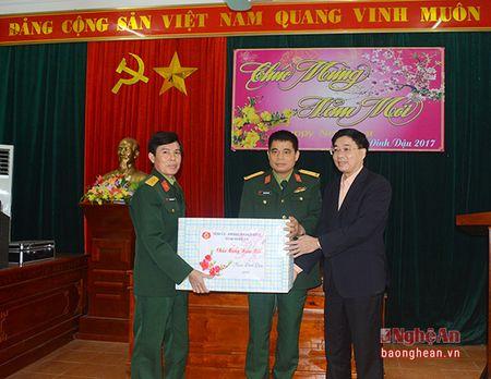 Pho Bi thu Tinh uy chuc Tet can bo, chien sy va nhan dan huyen Yen Thanh - Anh 2