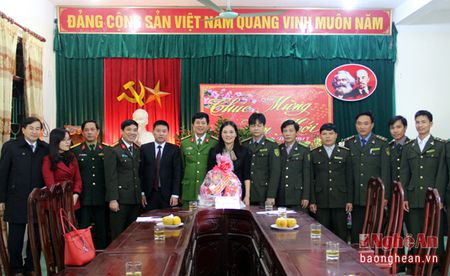 Lanh dao tinh tham, chuc Tet tai Nghia Dan va TX. Thai Hoa - Anh 1