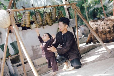 Gia dinh Khanh Thi - Phan Hien muon don Tet theo phong cach dan da - Anh 10