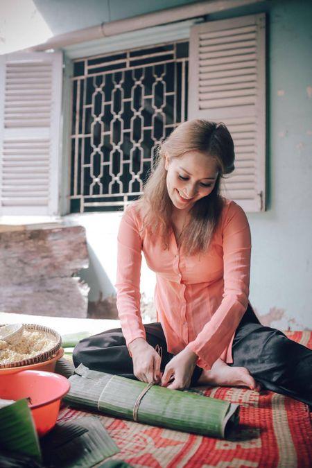 Gia dinh Khanh Thi - Phan Hien muon don Tet theo phong cach dan da - Anh 5