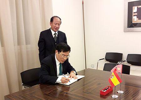 Bo truong Nguyen Ngoc Thien lam viec voi Dai su Viet Nam tai Tay Ban Nha - Anh 2