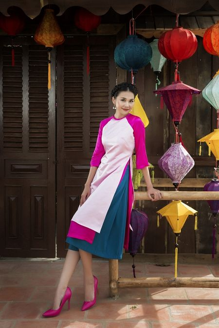 Sieu mau Thanh Hang rang ro voi 9 mau ao dai cach tan nhieu mau sac dien Tet - Anh 5