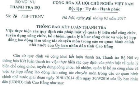 Bo nhiem can bo o Cao Bang: Chi ra nhieu sai pham - Anh 1