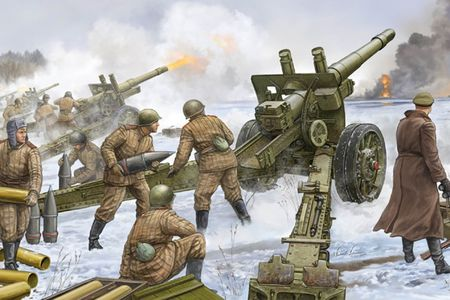 Hinh ve tuyet dep ve luc luong phao binh Lien Xo trong CTTG2 - Anh 1