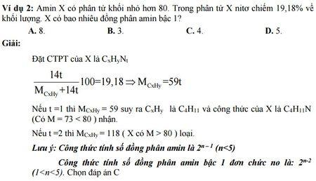 Kinh nghiem giai cac bai toan ve Amin - Aminoaxit (Hoa hoc 12) - Anh 2