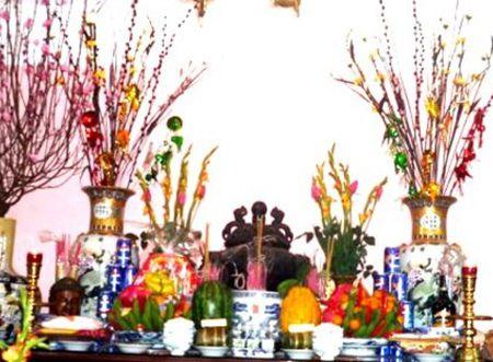Bai van khan Nom cung Ram thang Gieng (Tet Nguyen Tieu) tai nha va tren chua - Anh 1