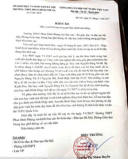 Truong Phan Dinh Phung ky luat giao vien va xin loi gia dinh nu sinh bi bong - Anh 1