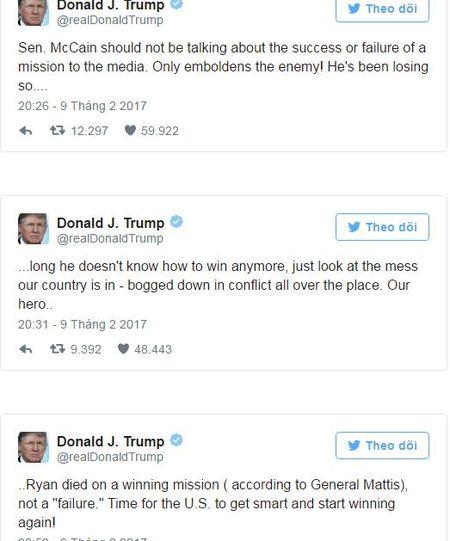 Trump: Hoa Ky 'sa lay trong xung dot' do nhung nguoi nhu thuong nghi si McCain - Anh 1