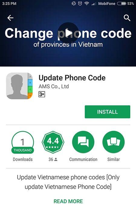 Cach chuyen ma vung dien thoai co dinh hang loat tren smartphone - Anh 6