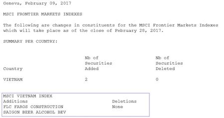 2 co phieu Viet Nam vao ro MSCI Frontier Markets Index - Anh 2