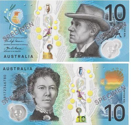 Australia cong bo thiet ke to tien 10 do moi - Anh 1