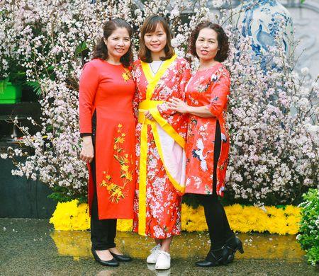 Nguoi dan doi mua di xem Le hoi hoa anh dao Nhat Ban - Anh 5