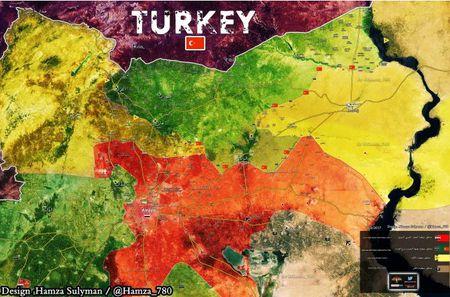 Tho Nhi Ki na phao o Manbij, 8 binh si Syria thiet mang - Anh 1