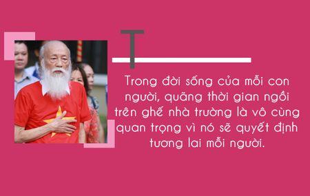 Thay Van Nhu Cuong va nhung cau noi di vao trai tim bao the he hoc tro - Anh 5