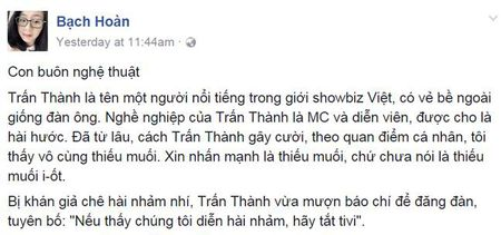 Tran Thanh: Con buon nghe thuat? - Anh 2