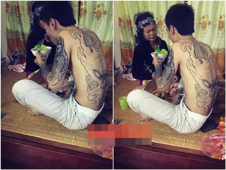 Thanh nien xam tro an can cham me om gay xuc dong cong dong mang - Anh 1