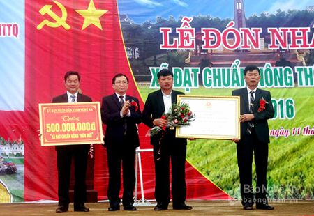 Xa Lien Thanh (Yen Thanh) don bang cong nhan dat chuan Nong thon moi - Anh 3