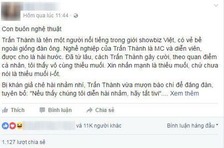 Tran Thanh dang vo cung coi thuong khan gia! - Anh 1