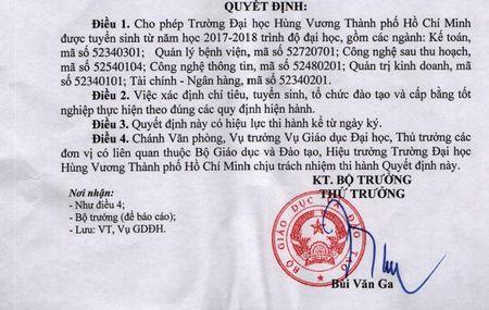 Truong DH Hung Vuong TP.HCM duoc tuyen sinh tro lai - Anh 1