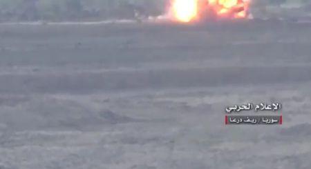 Phien quan no tung vi dap bom bay cua quan Syria - Anh 1