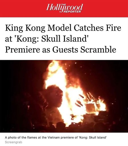 Bao chi quoc te quan tam vu chay tai le ra mat phim 'Kong: Skull Island' - Anh 2