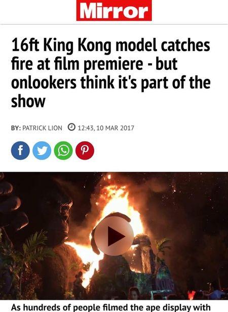 Bao chi quoc te quan tam vu chay tai le ra mat phim 'Kong: Skull Island' - Anh 3
