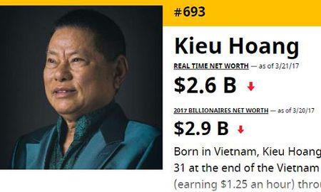 Ty phu Hoang Kieu ra khoi Top 500 nguoi giau nhat the gioi - Anh 1