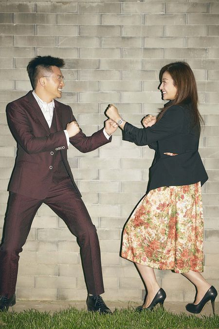 Trieu Vy, To Huu Bang nam tay than thiet khi hoi ngo - Anh 4