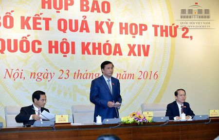 Hop bao cong bo chuong trinh Ky hop thu ba, Quoc hoi khoa XIV - Anh 2