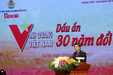 Ton vinh 30 tap the, ca nhan tai Chuong trinh 'Vinh quang Viet Nam – Dau an 30 nam doi moi' - Anh 1