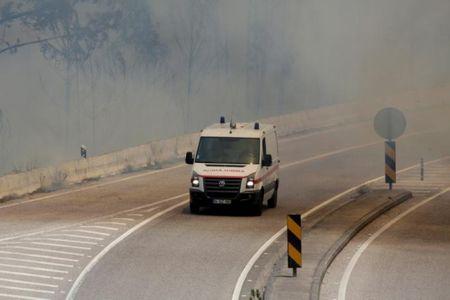 Bo Dao Nha: Lua chay rung trum kin doan xe so tan, 62 nguoi chet trong o to - Anh 12