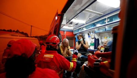 Bo Dao Nha: Lua chay rung trum kin doan xe so tan, 62 nguoi chet trong o to - Anh 7