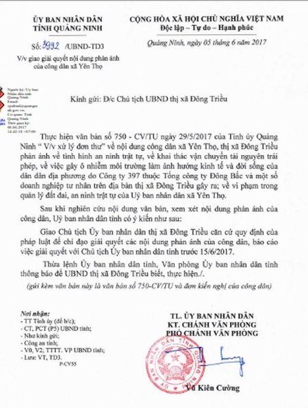 Quang Ninh yeu cau Chu tich Dong Trieu bao cao buc xuc khai thac than - Anh 1