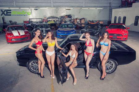 Dan my nu Sai Gon do dang voi Mustang, Camaro va Corvette - Anh 2
