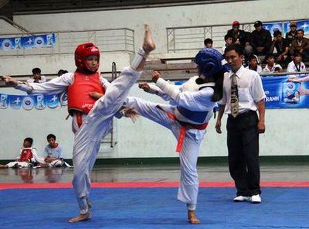 Dieu kien chuyen mon to chuc tap luyen mon Taekwondo - Anh 1